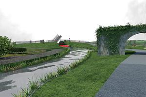 An artist's impression of plans for the development of the Ulster Canal at Munnilly