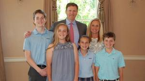 Susan Smith-Walsh with her husband Ryan and children Conor, Claire, Sally and Sean in the United States