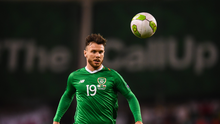Scott Hogan in action for Ireland. Photo by Stephen McCarthy/Sportsfile