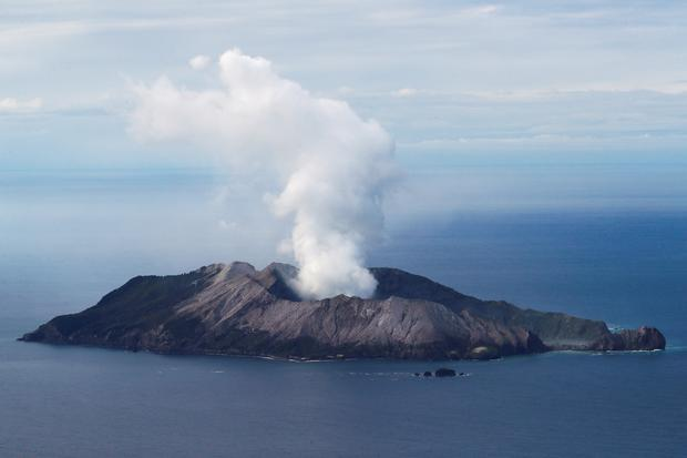 An aerial view of the Whakaari, also known as White Island volcano, in New Zealand, December 12, 2019. REUTERS/Jorge Silva