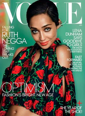 Ruth Negga on the cover of Vogue