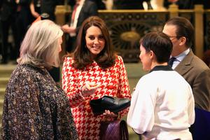 Kate Middleton visits the NK department store in Stockholm to open an interactive exhibition of UK design, fashion and brands that operate in Sweden. Photo: Chris Jackson/PA Wire