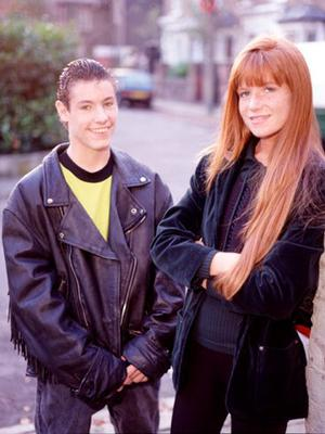 Dean Gaffney and Patsy Palmer as Robbie and Bianca Jackson