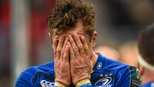 A dejected Jamie Heaslip reacts after Leinster's defeat to Toulon in the 2015 Champions Cup semi-final. Stephen McCarthy / SPORTSFILE