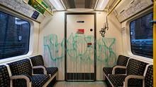 Banksy's latest work inside a London Underground tube carriage was removed by TfL (@banksy/PA Media)