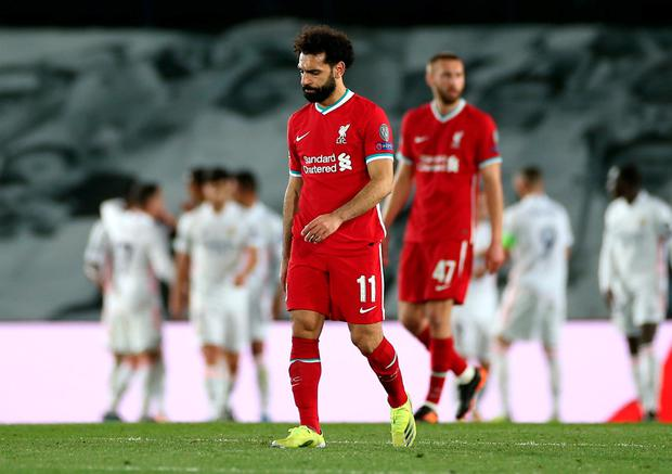 Mo Salah scored an away goal for Liverpool in the 3-1 defeat to Real Madrid. Isabel Infantes/PA Wire.