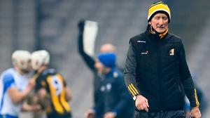 What's another year: Brian Cody walks down the sideline during the closing stages of Kilkenny's All-Ireland SHC semi-final loss to Waterford. Photo: Sportsfile