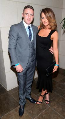Dublin Player Davy Byrne and Tammy Lynch at the Gibson Hotel All Ireland Post Match Banquet at the Gibson Hotel ,Dublin  Picture Brian mcEvoy No Repro fee for one use