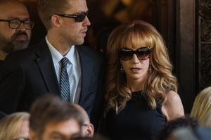 Comedian Kathy Griffin departs the funeral of comedian Joan Rivers at Temple Emanu-El in New York September 7, 2014. REUTERS/Lucas Jackson