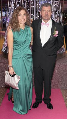 Charlie Bird and partner Claire Mould  at Strictly Against Breast Cancer in aid of Breast Cancer Ireland at The Convention Centre Dublin