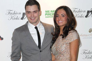 Adam Johnson and girlfriend Stacey Flounders