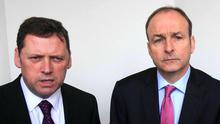Loyalty has worked both ways over the years between Barry Cowen and his party leader Micheál Martin. Photo: Gareth Chaney, Collins