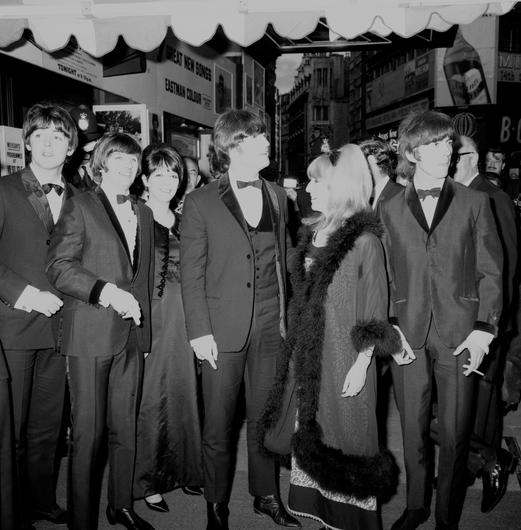 The Beatles and their wives arrive for the premiere of their film Help! in London in 1965 (PA)