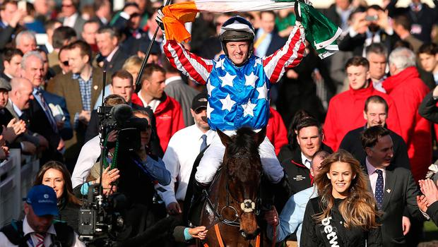 Jockey Noel Fehily after his victory on Special Tiara. Photo: Damien Eagers