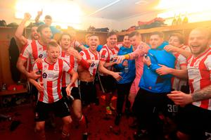 Lincoln saw off Brighton at Sincil Bank on Saturday CREDIT: GETTY IMAGES