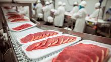 Meat factory production line