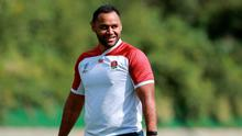 Billy Vunipola looks on during the England training session held Jissouji multi purpose ground on October 15, 2019 in Beppu, Japan. (Photo by David Rogers/Getty Images)