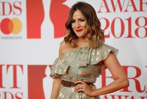 TROLLED: Caroline Flack at the BRIT Awards in 2018. Picture: AFP/Getty