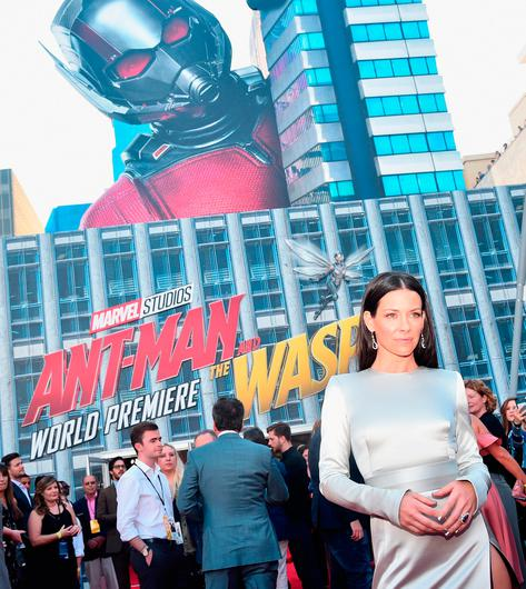 """Evangeline Lilly attends the Los Angeles Global Premiere for Marvel Studios' """"Ant-Man And The Wasp"""" at the El Capitan Theatre on June 25, 2018 in Hollywood, California.  (Photo by Alberto E. Rodriguez/Getty Images for Disney)"""