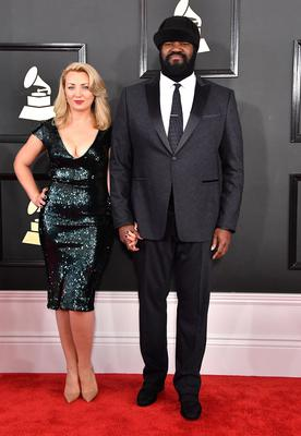 Gregory at the Grammys with wife Victoria