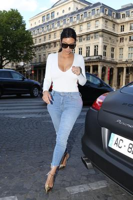 Kim Kardashian is seen on May 18, 2014 in Paris, France.  (Photo by Marc Piasecki/GC Images)