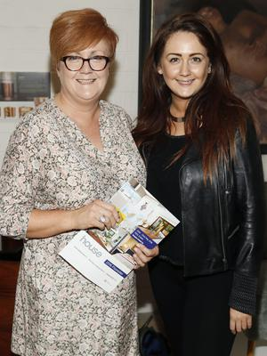 no fee if house 2016 mentioned in caption Linda and Emma Cunningham at the launch of house 2016  at The Chocolate Factory. The new interiors event launched by INM will run from 20th - 22nd May 2016 at the RDS Simmonscourt, and will showcase the very best of all things home and interiors related-photo Kieran Harnett
