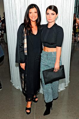 Activist Ali Hewson and her daughter actress Eve Hewson attend the Edun Spring 2016 fashion show during New York Fashion Week at Spring Studios on September 13, 2015 in New York City.  (Photo by Craig Barritt/Getty Images)
