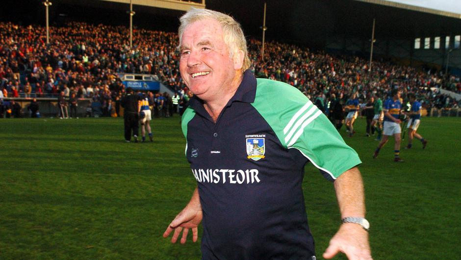 Limerick manager Richie Bennis celebrates after the munster Senior Hurling Championship semi-final replay with Tipperary ended in a draw at Semple Stadium, Thurles back in June 2007. Photo: Pat Murphy/Sportsfile