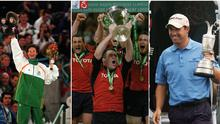 Sonia O'Sullivan, the Munster rugby team and Padraig Harrington enjoyed great success in the 2000s.