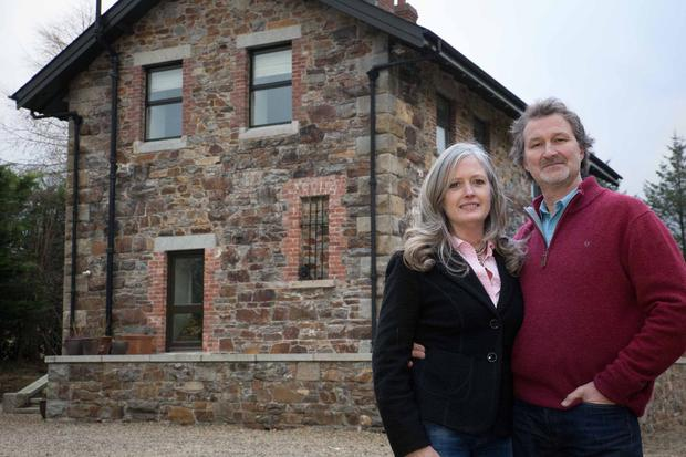 Husband and wife Susan Gorman and Alan Ross bought the disused station nine years ago
