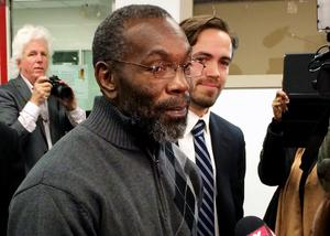 Ricky Jackson leaves the courthouse in Cleveland, Ohio, November 21, 2014. Jackson, who was freed last year after spending 39 years in jail for a murder he did not commit, will receive more than $1 million from the state for his wrongful imprisonment, court records show. REUTERS/Kim Palmer/Files