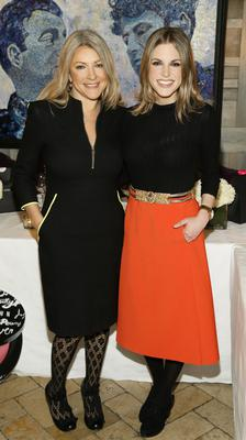 Cheryl Joannides and Amy Huberman at the Bobbi Brown Dress For Success charity lunch at Residence