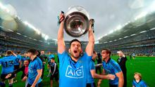 Dublin's Cian O'Sullivan celebrates with the Sam Maguire cup following his side's victory. GAA Football All-Ireland Senior Championship Final, Dublin v Kerry, Croke Park, Dublin. Picture credit: Stephen McCarthy / SPORTSFILE