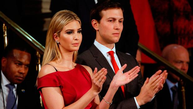 Ivanka Trump and husband Jared Kushner watch as U.S. President Trump Addresses Joint Session of Congress - Washington, U.S. REUTERS/Kevin Lamarque