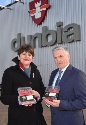 Dunbia founder Jim Dobson with Arlene Foster