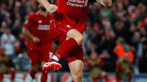 Liverpool's James Milner celebrates scoring