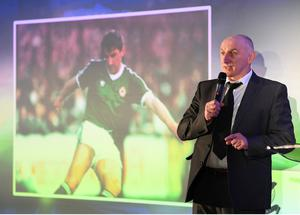 11 January 2019; Former Republic of Ireland international John Anderson during the SSE Airtricity Soccer Writers Association of Ireland Awards 2018 at the Conrad Hotel in Dublin. Photo by Stephen McCarthy/Sportsfile