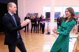 The Duke and Duchess of Cambridge juggling during a special event at the Tribeton restaurant in Galway to look ahead to the city hosting the European Capital of Culture in 2020