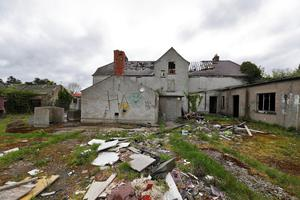 'Place of significance': The ruined house in Lucan, Dublin, remains standing today despite calls to tear it down after the murder of Ana Kriegel in 2018. Photo: Colin Keegan/Collins