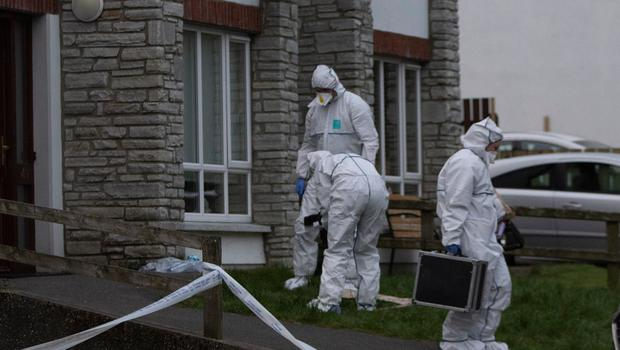 Garda forensic teams at the house. Picture: North West Newspix