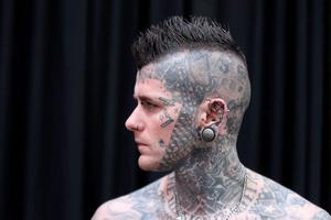Body piercer Baz Black, from Dundalk. Pic Stephen Collins/Collins Photos