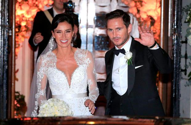 Christine Bleakley and Frank Lampard leave after their wedding at St Paul's Church in Knightsbridge, London