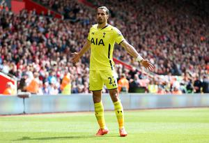 "Football - Southampton v Tottenham Hotspur - Barclays Premier League - St Mary's Stadium - 25/4/15 Tottenham's Nacer Chadli celebrates scoring their second goal Action Images via Reuters / Matthew Childs Livepic EDITORIAL USE ONLY. No use with unauthorized audio, video, data, fixture lists, club/league logos or ""live"" services. Online in-match use limited to 45 images, no video emulation. No use in betting, games or single club/league/player publications.  Please contact your account representative for further details."