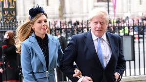 Boris with Carrie Symonds, who recently gave birth to a son