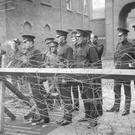 Members of the Black and Tans, an armed auxiliary force of the Royal Irish Constabulary. Photo: Topical Press Agency/Getty Images