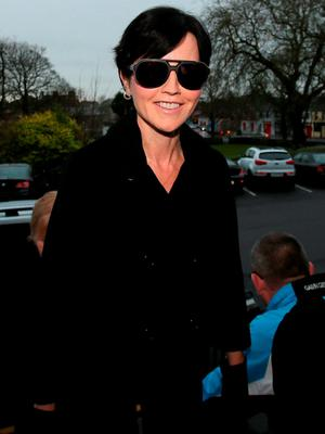 Dolores O'Riordan appears at Ennis District Court on charges relating to the 'air rage' incident Photo credit: Niall Carson/PA Wire