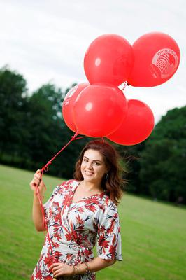 "Síle Seoige at a photocall for Macra na Feirme's ""Know your Neighbour"" campaign"