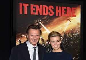 """Actors Liam Neeson and Maggie Grace star together in """"Taken 3"""""""