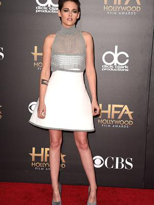 HOLLYWOOD, CA - NOVEMBER 14:  Kristen Stewart arrives at the 18th Annual Hollywood Film Awards at the Hollywood Palladium on November 14, 2014 in Hollywood, California.  (Photo by Steve Granitz/WireImage)