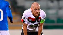 Michael Shields feels the pain of Dundalk's loss